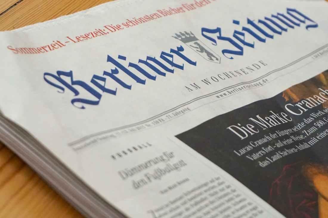 newspaper berliner closeup